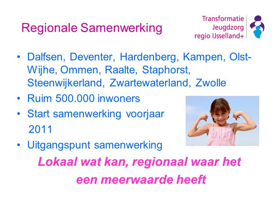 Regionale Samenwerking Dalfsen, Deventer, Hardenberg, Kampen, Olst- Wijhe, Ommen, Raalte, Staphorst, Steenwijkerland, Zwartewaterland, Zwolle Ruim 500