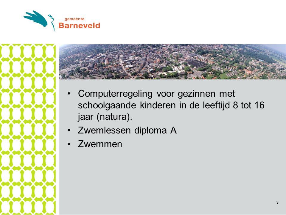 Computerregeling voor gezinnen met schoolgaande kinderen in de leeftijd 8 tot 16 jaar (natura).