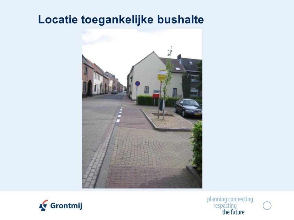 Locatie toegankelijke bushalte