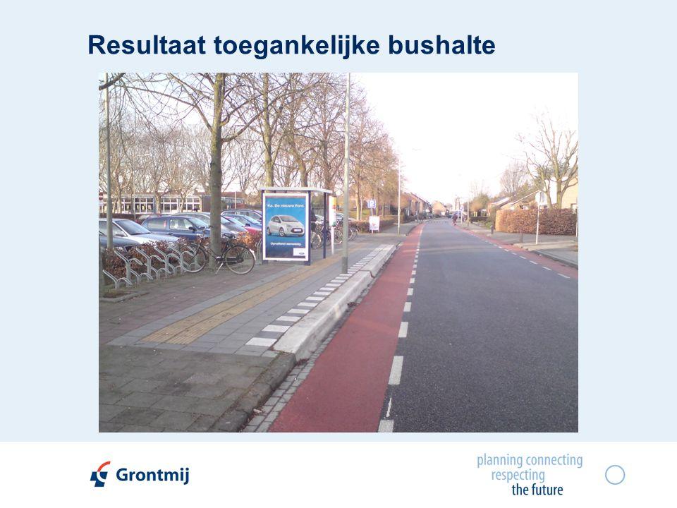 Resultaat toegankelijke bushalte