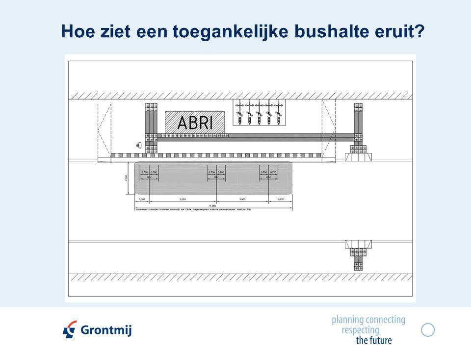 Hoe ziet een toegankelijke bushalte eruit?
