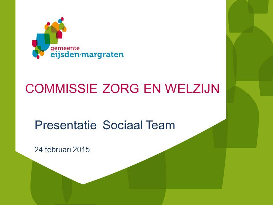 COMMISSIE ZORG EN WELZIJN Presentatie Sociaal Team 24 februari 2015