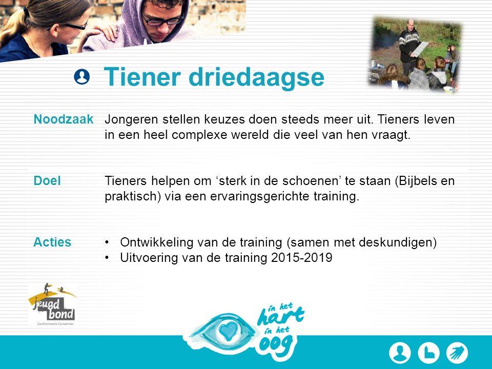 Tiener driedaagse NoodzaakJongeren stellen keuzes doen steeds meer uit.