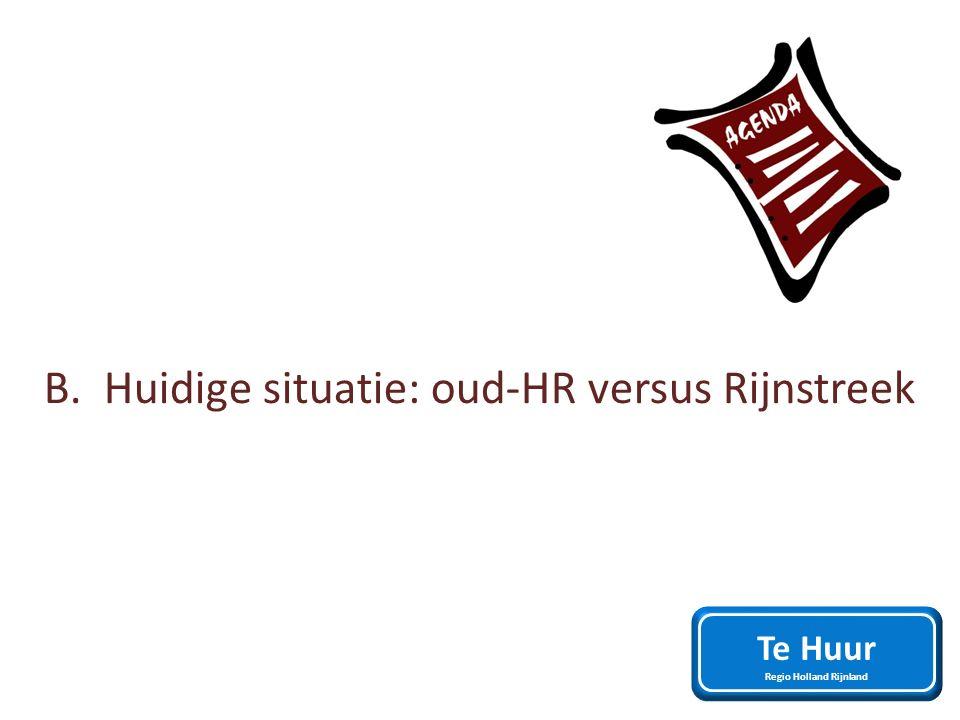 B. Huidige situatie: oud-HR versus Rijnstreek Te Huur Regio Holland Rijnland