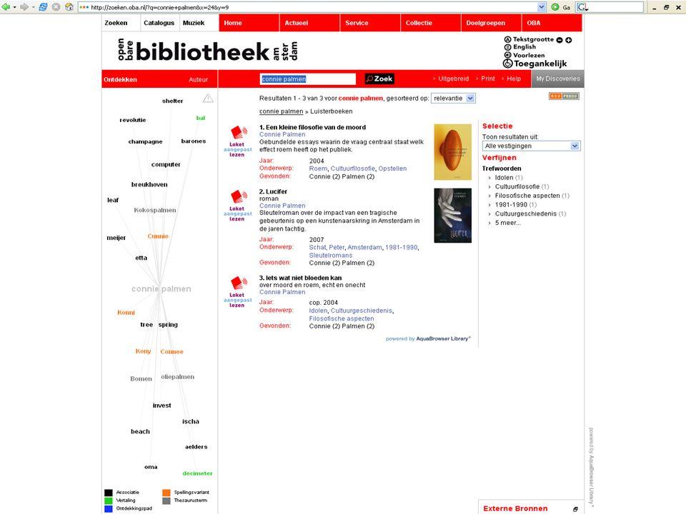 Bibliotheekdag SFB; 31 maart 2008