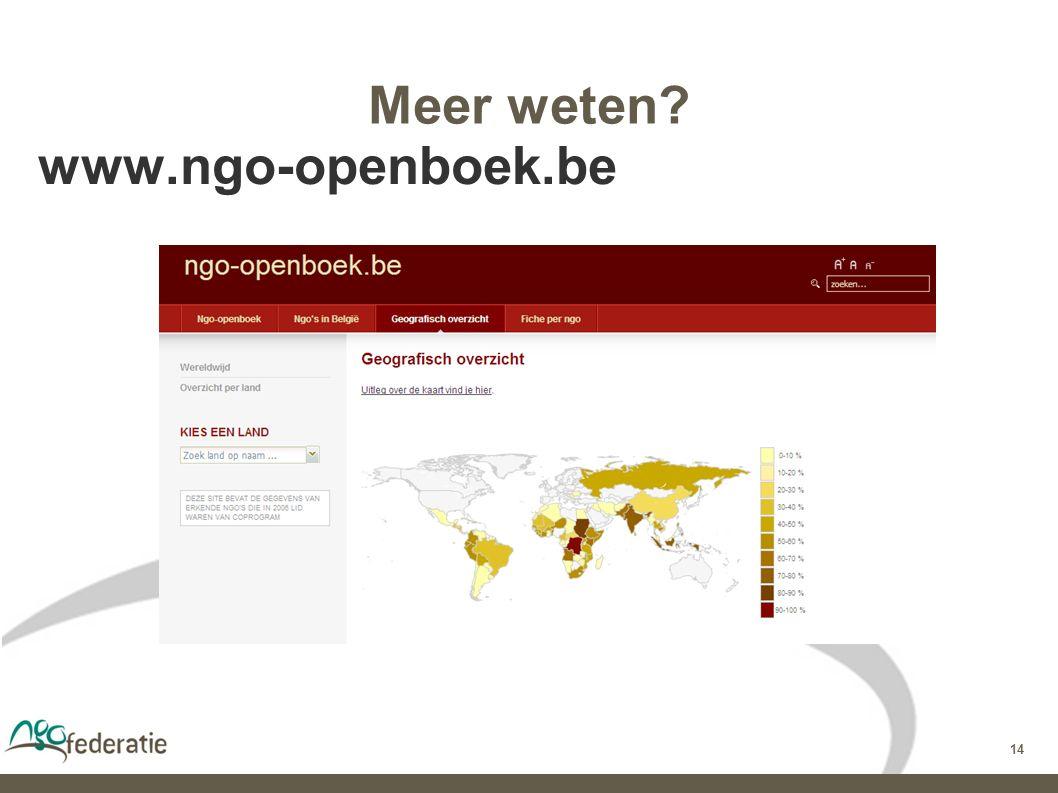 14 Meer weten www.ngo-openboek.be