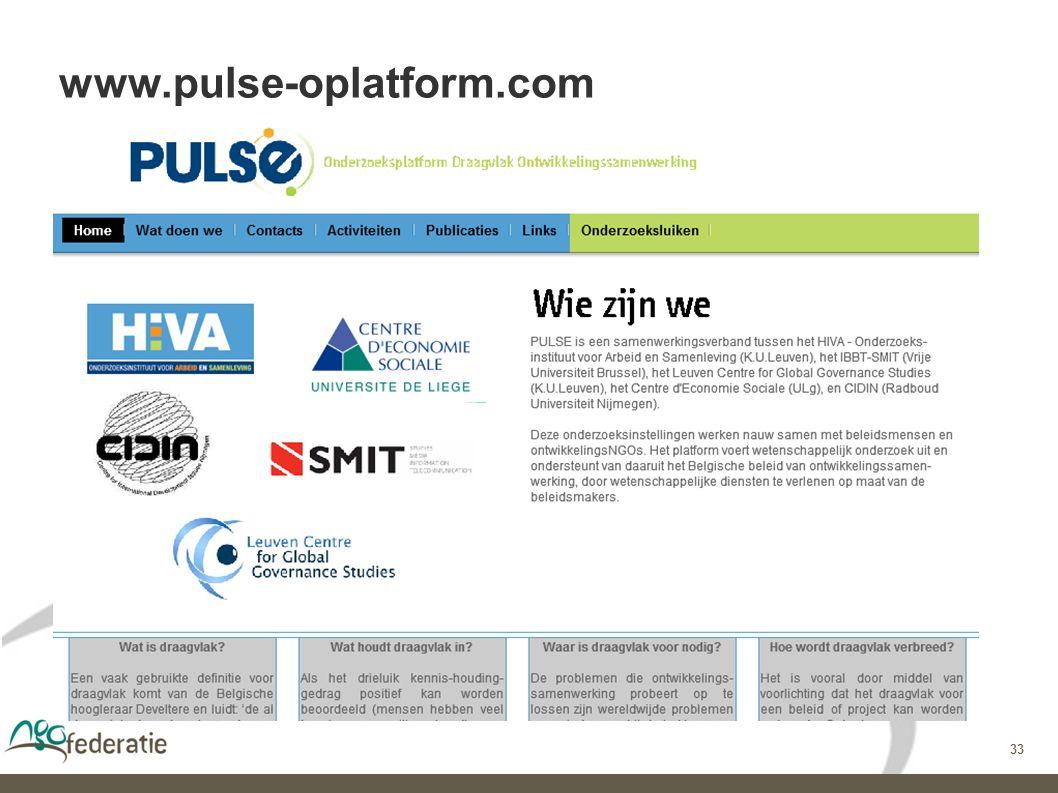 33 www.pulse-oplatform.com