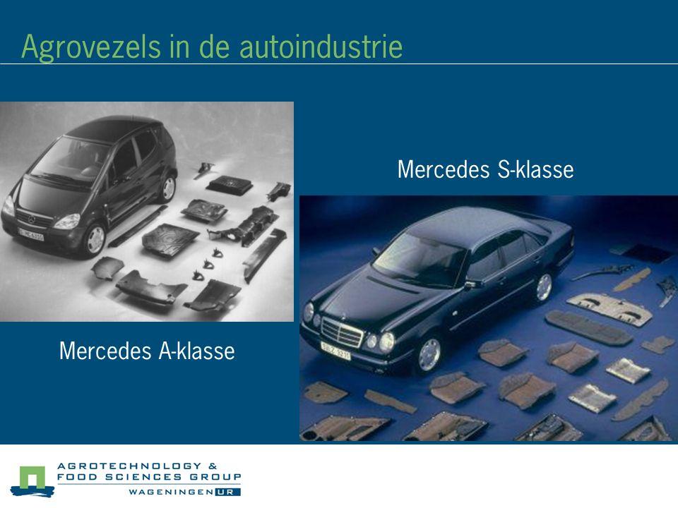 Agrovezels in de autoindustrie Mercedes A-klasse Mercedes S-klasse
