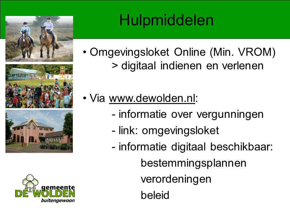 Hulpmiddelen Omgevingsloket Online (Min.