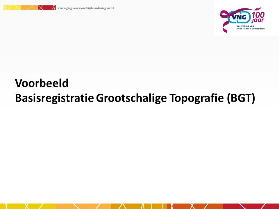 Voorbeeld Basisregistratie Grootschalige Topografie (BGT)