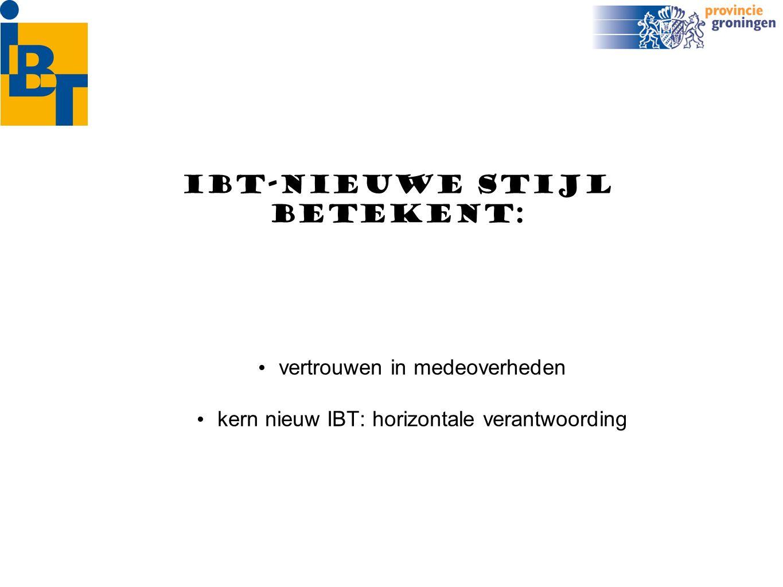 B&W Gemeenteraad provincieGS INFORMATIETOEZICHT Horizontale verantwoording Horizontale controle