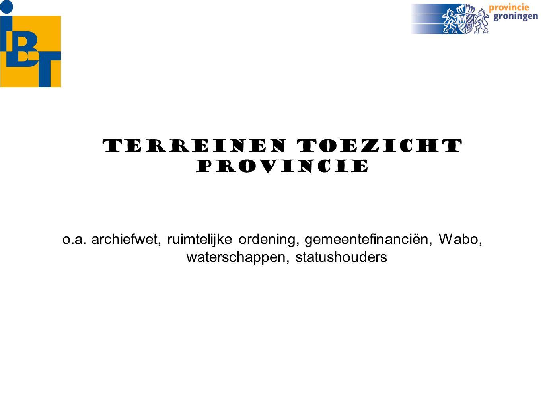 organisatie van het toezicht -zoveel mogelijk aansluiten bij bestaande informatiestromen (van B&W naar Raad) -zoveel mogelijk tappen uit digitale bronnen (wsjg.nl) -uiterste nood: verordening