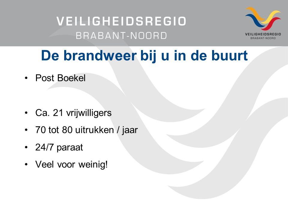 De brandweer bij u in de buurt Post Boekel Ca.