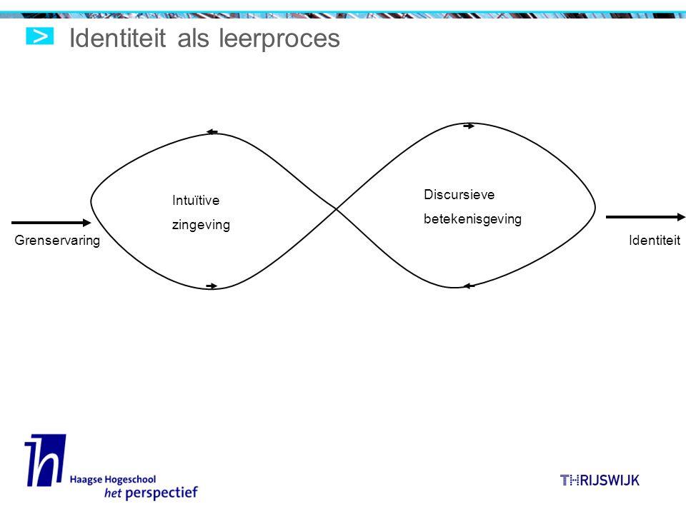 Identiteit als leerproces Intuïtive zingeving Discursieve betekenisgeving GrenservaringIdentiteit
