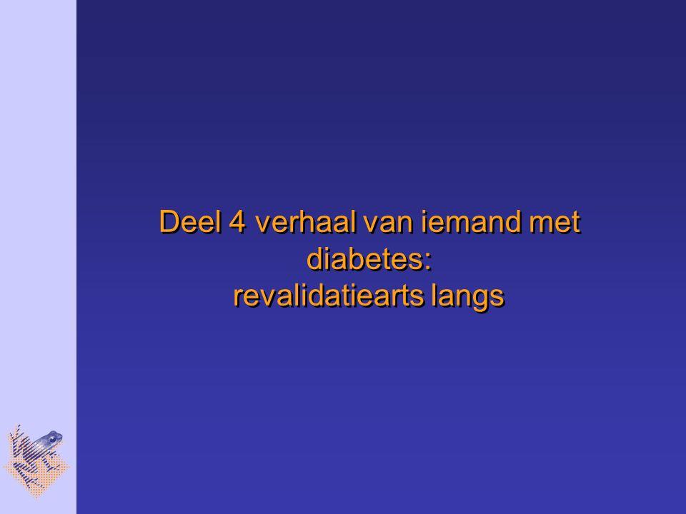 Deel 4 verhaal van iemand met diabetes: revalidatiearts langs