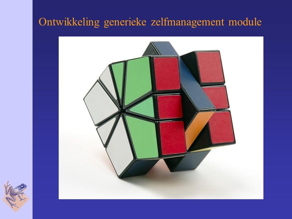 Ontwikkeling generieke zelfmanagement module