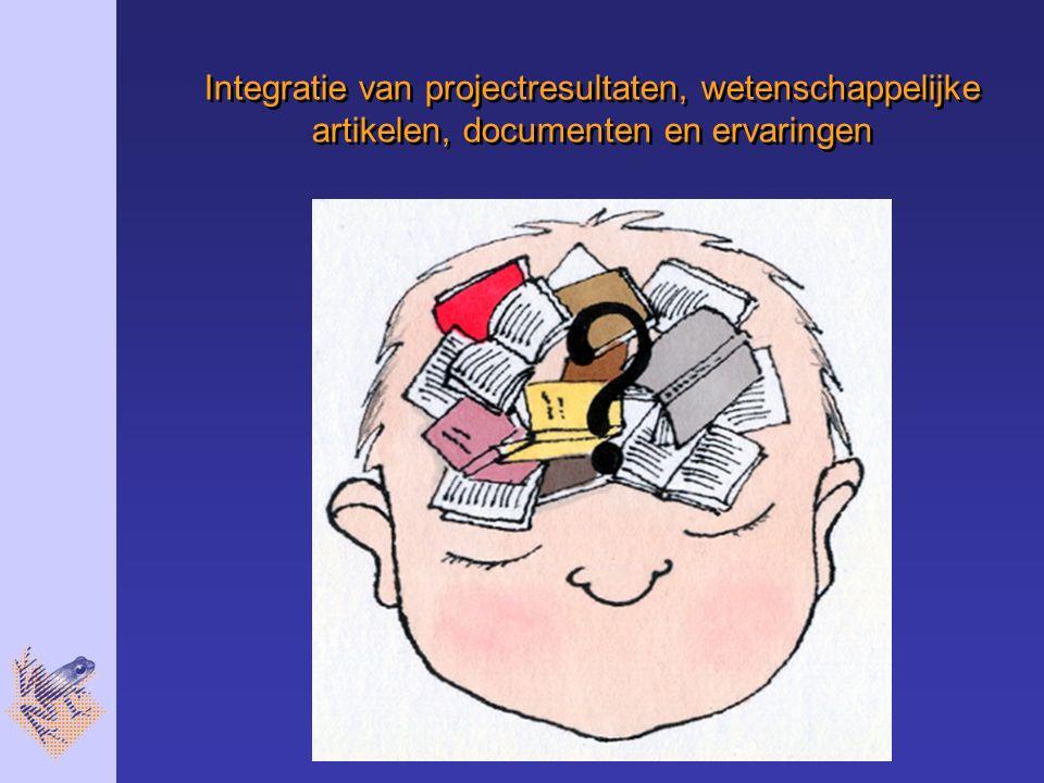 Integratie van projectresultaten, wetenschappelijke artikelen, documenten en ervaringen