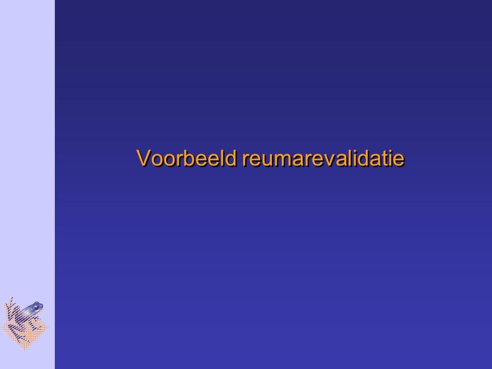 Voorbeeld reumarevalidatie