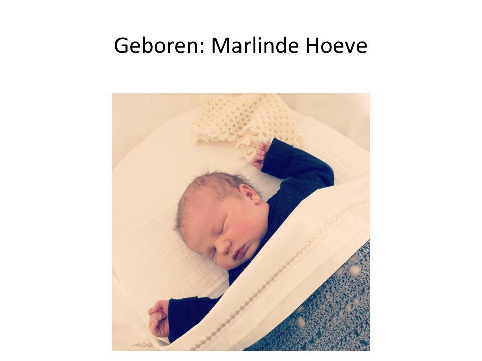 Geboren: Marlinde Hoeve