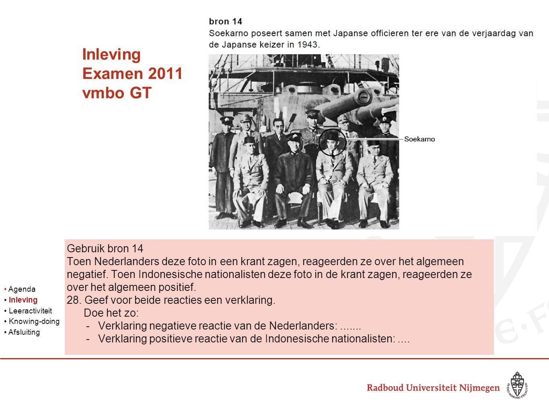 Inleving Examen 2011 vmbo GT Gebruik bron 14 Toen Nederlanders deze foto in een krant zagen, reageerden ze over het algemeen negatief.