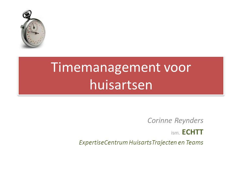 Timemanagement voor huisartsen Corinne Reynders ism.
