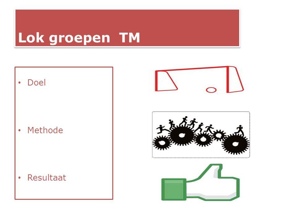 Lok groepen TM Doel Methode Resultaat