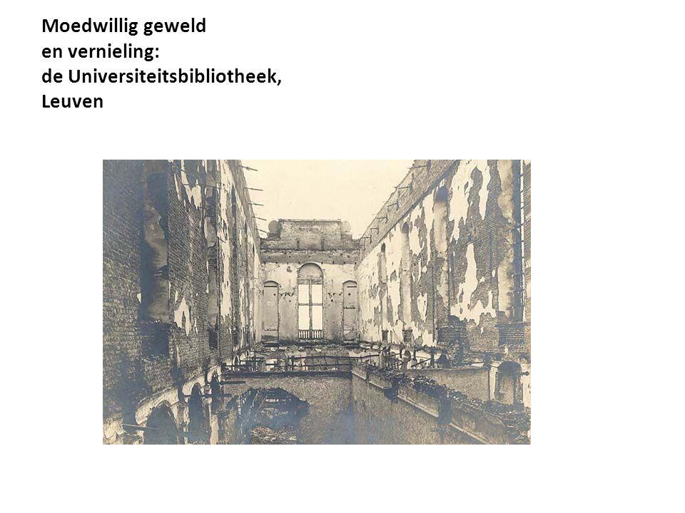 Moedwillig geweld en vernieling: de Universiteitsbibliotheek, Leuven