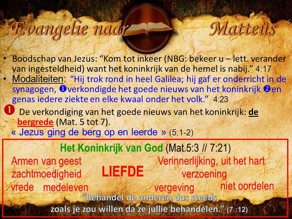 Boodschap van Jezus: Kom tot inkeer (NBG: bekeer u – lett.