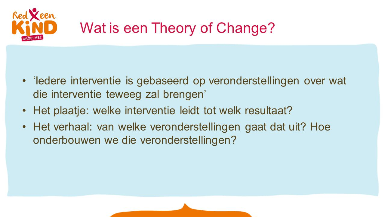 Wat is een Theory of Change.