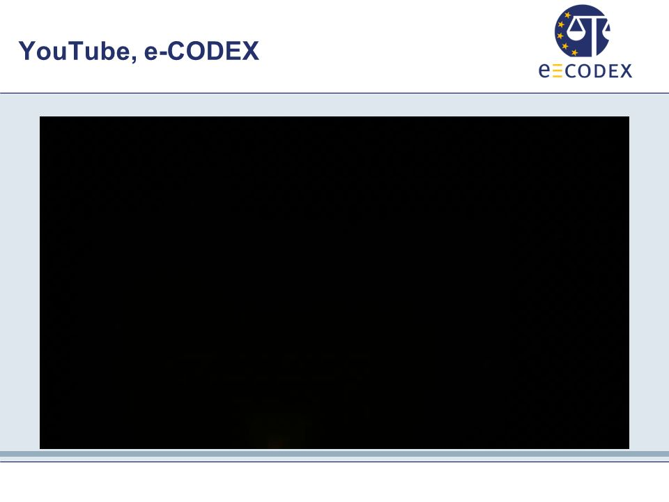 YouTube, e-CODEX