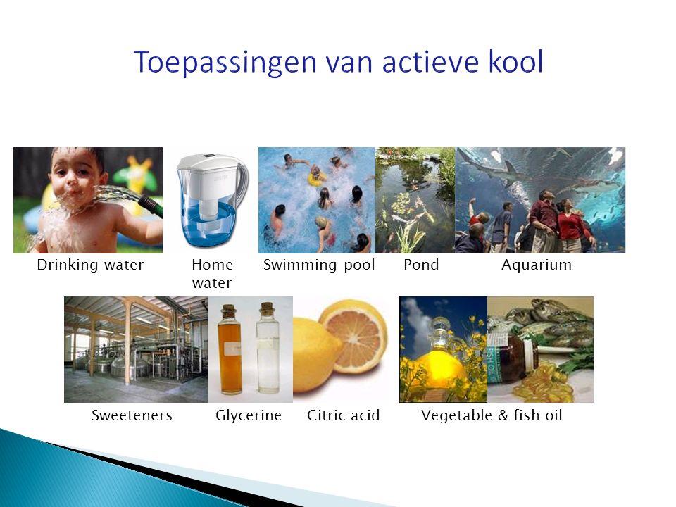 Home water Drinking water SweetenersVegetable & fish oilGlycerineCitric acid Swimming poolPondAquarium