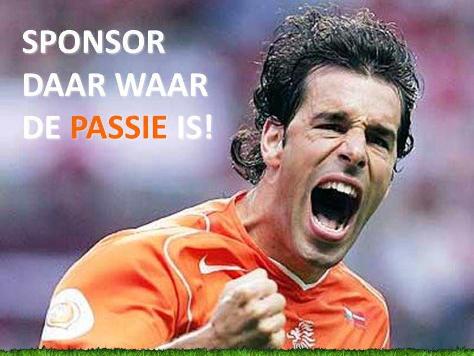 SPONSOR DAAR WAAR DE PASSIE IS!