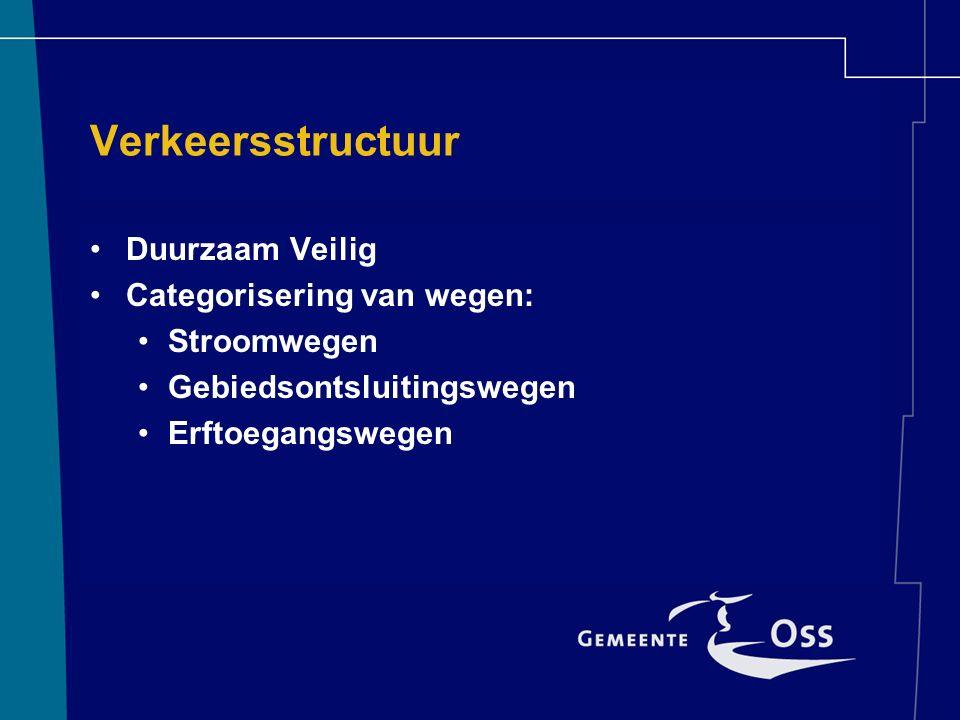 Verkeersstructuur Duurzaam Veilig Categorisering van wegen: Stroomwegen Gebiedsontsluitingswegen Erftoegangswegen