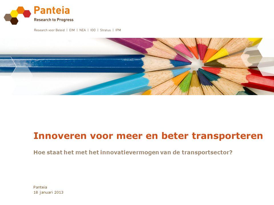Innoveren voor meer en beter transporteren Hoe staat het met het innovatievermogen van de transportsector.