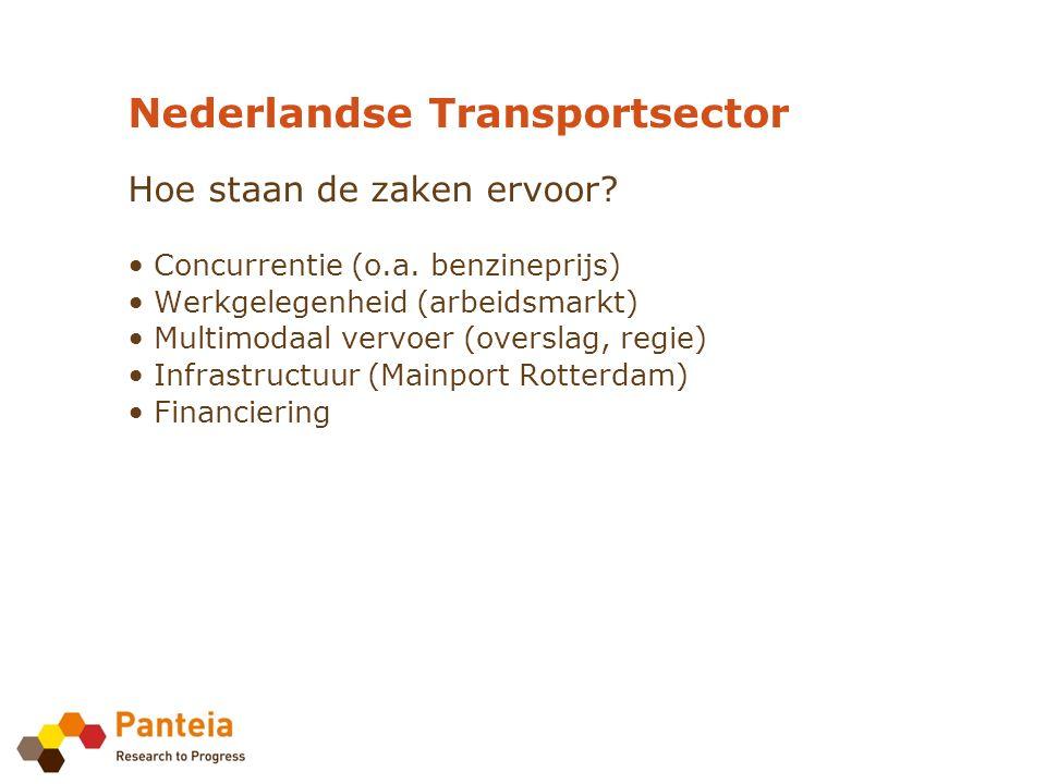 Nederlandse Transportsector Hoe staan de zaken ervoor.