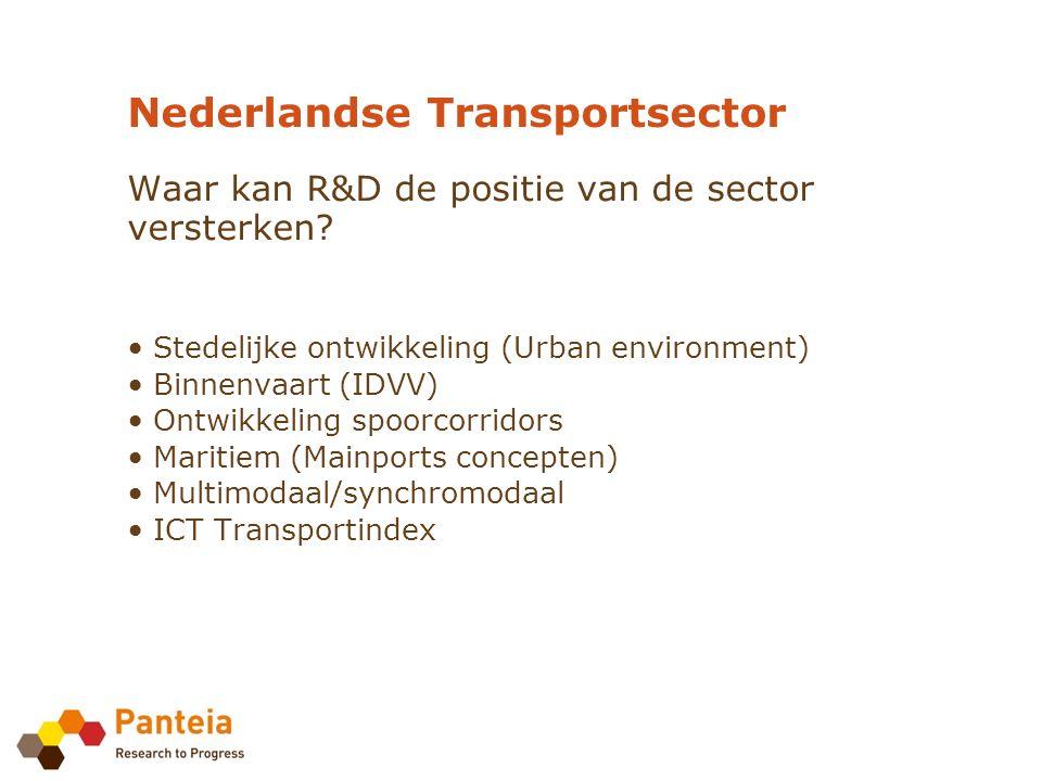 Nederlandse Transportsector Waar kan R&D de positie van de sector versterken.