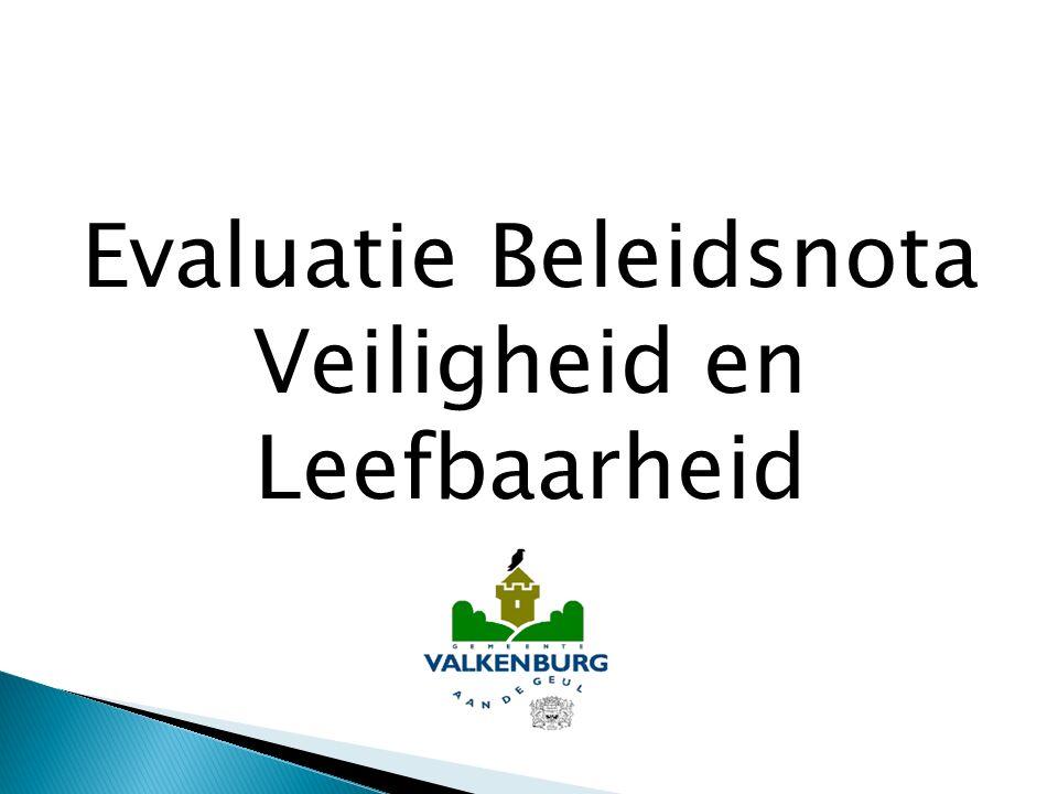  28 juni 2010 vaststelling door gemeenteraad  Resultaat van uitkomsten enquête en gesprekken met buurtbewoners (subjectieve veiligheid)  Politiecijfers (objectieve veiligheid)  Algemeen doel: Verbeteren objectieve en subjectieve veiligheid via 4 thema's  Incidenteel budget veiligheid € 150.000,--