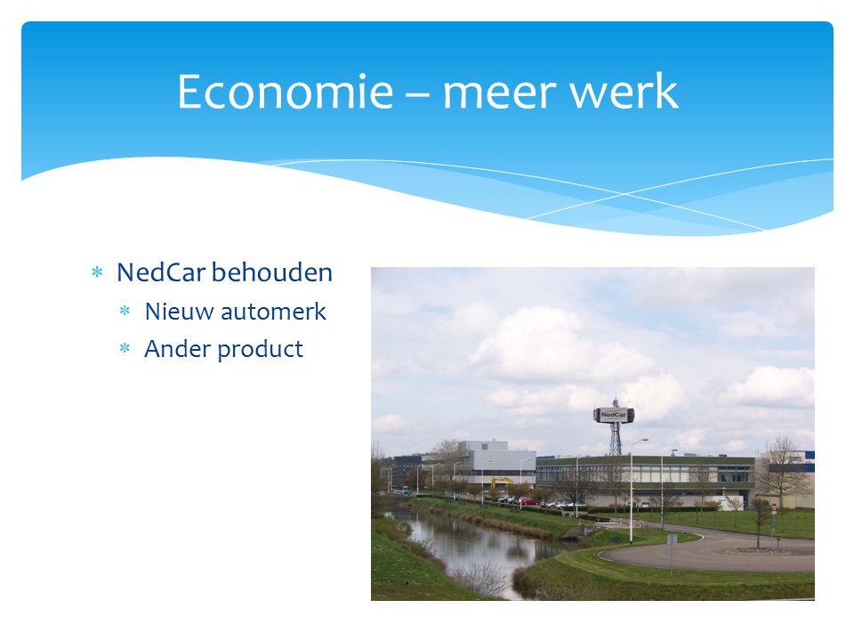  NedCar behouden  Nieuw automerk  Ander product Economie – meer werk