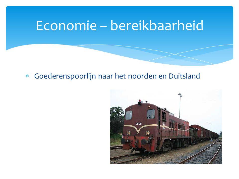  Goederenspoorlijn naar het noorden en Duitsland Economie – bereikbaarheid