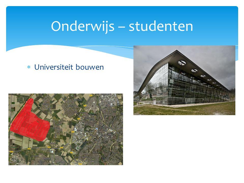  Universiteit bouwen Onderwijs – studenten