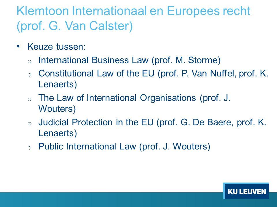 Klemtoon Internationaal en Europees recht (prof. G.