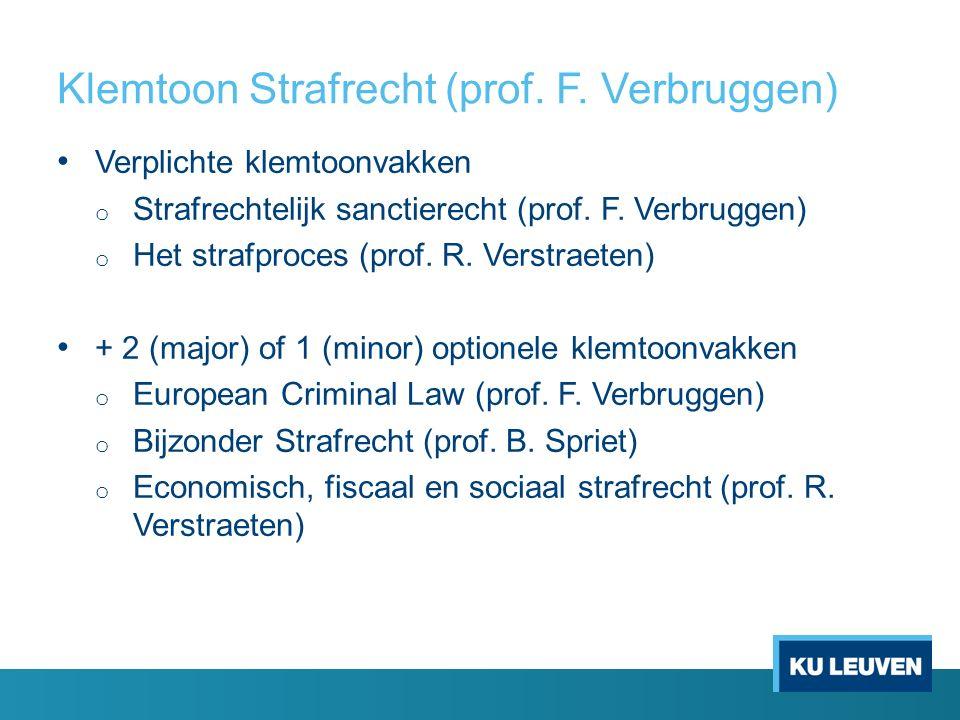Klemtoon Strafrecht (prof. F.