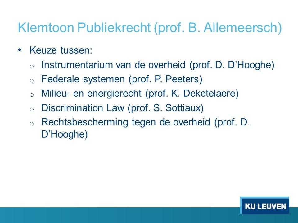 Klemtoon Publiekrecht (prof. B.