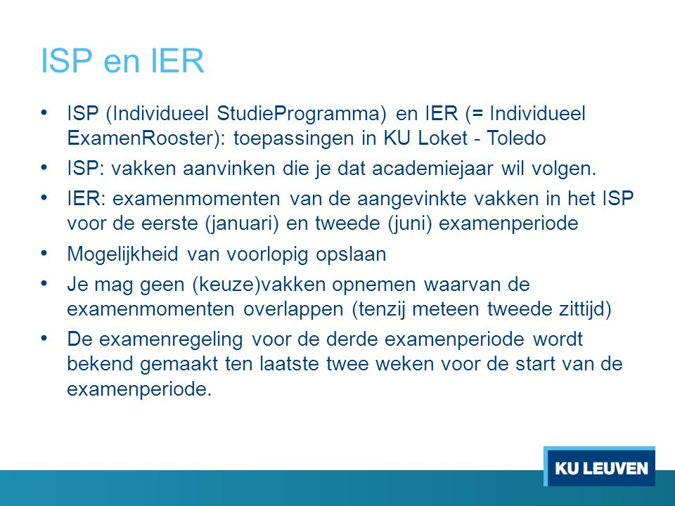 Informatie voor 'zij-instromers' 'Zij-instromers' = studenten met een bachelordiploma van buiten KU Leuven FUNDP, VUB, USL, Universiteit Antwerpen, UGent,… (Hasselt cfr.