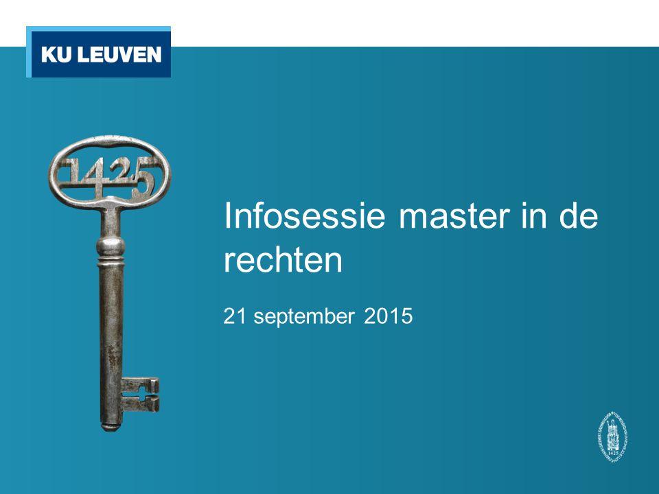 Infosessie master in de rechten 21 september 2015