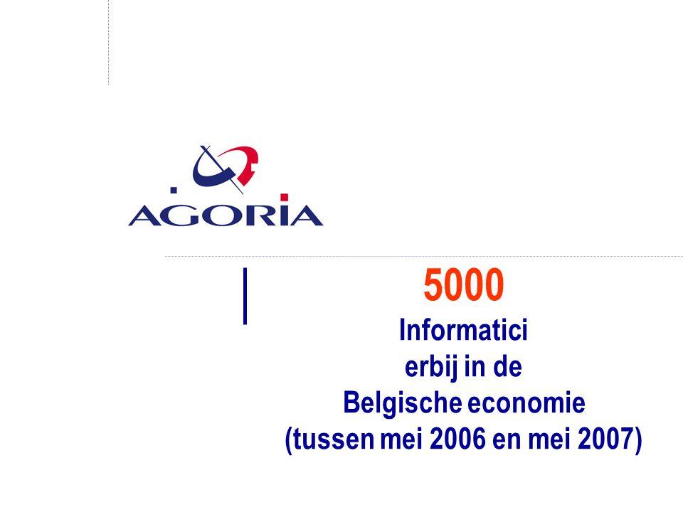 5000 Informatici erbij in de Belgische economie (tussen mei 2006 en mei 2007)