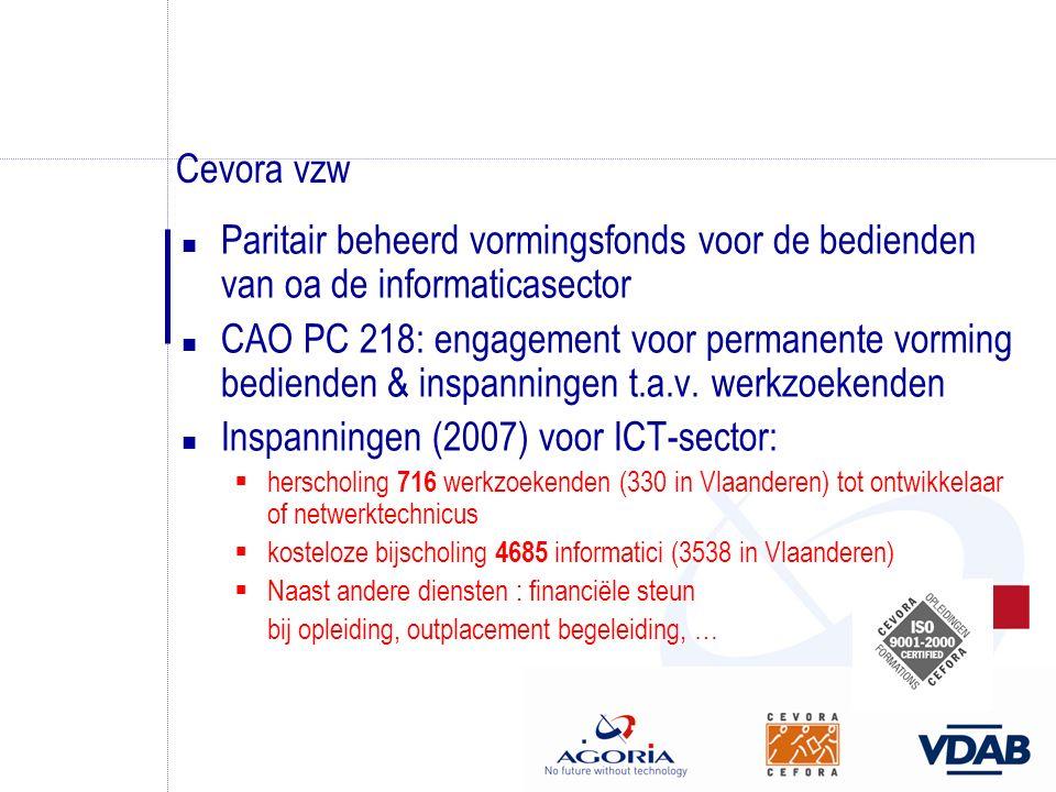 Cevora vzw n Paritair beheerd vormingsfonds voor de bedienden van oa de informaticasector n CAO PC 218: engagement voor permanente vorming bedienden &