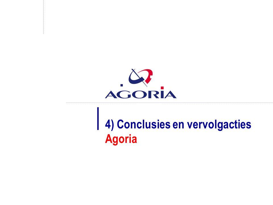 4) Conclusies en vervolgacties Agoria