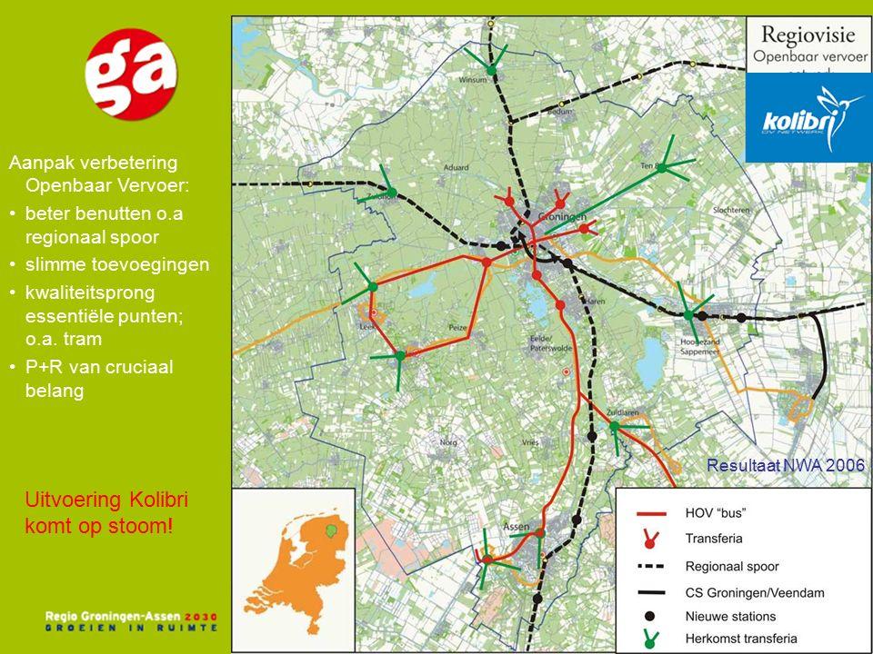 Aanpak verbetering Openbaar Vervoer: beter benutten o.a regionaal spoor slimme toevoegingen kwaliteitsprong essentiële punten; o.a.