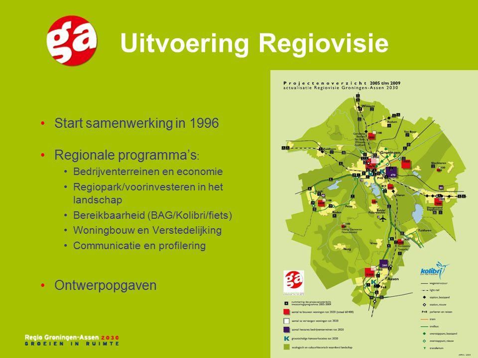 Meerwaarde regionale samenwerking Markt voor bedrijventerreinen is regionaal Voorkomen onderlinge concurrentie →marktconforme prijzen Divers aanbod kunnen aanbieden Realiseren schaalvoordelen